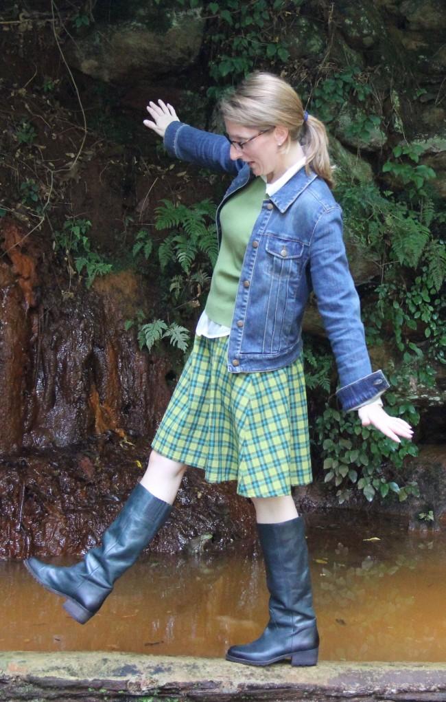 Deborah's plaid skirt